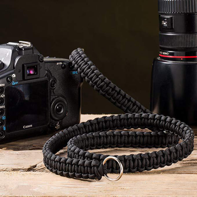 IPRee EDC Paracord Strap Camera Shoulder Neck Belt Outdoor Camping Emergency Parachute Rope