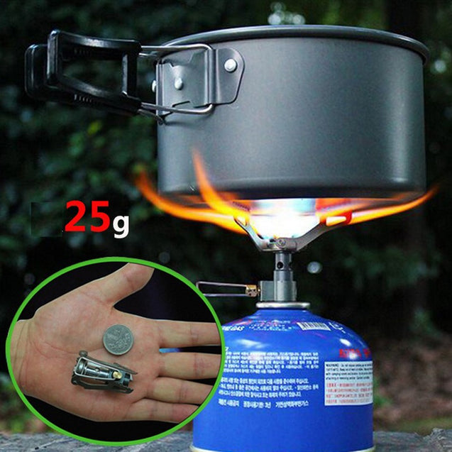 BRS High Altitude Mini Gas Cooking Stove 2700W Titanium Alloy Burner Ultralight 25g Furnace BRS-3000T