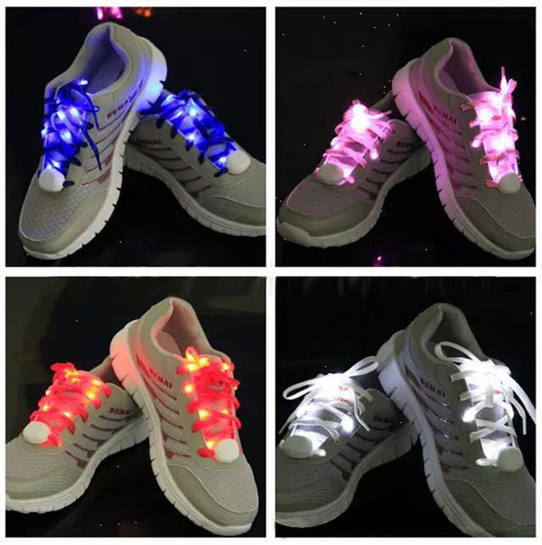 1 PC LED Lighting Shoelace Colorful Shoes Light Roller Skates Shoelace LED Light Random Colors