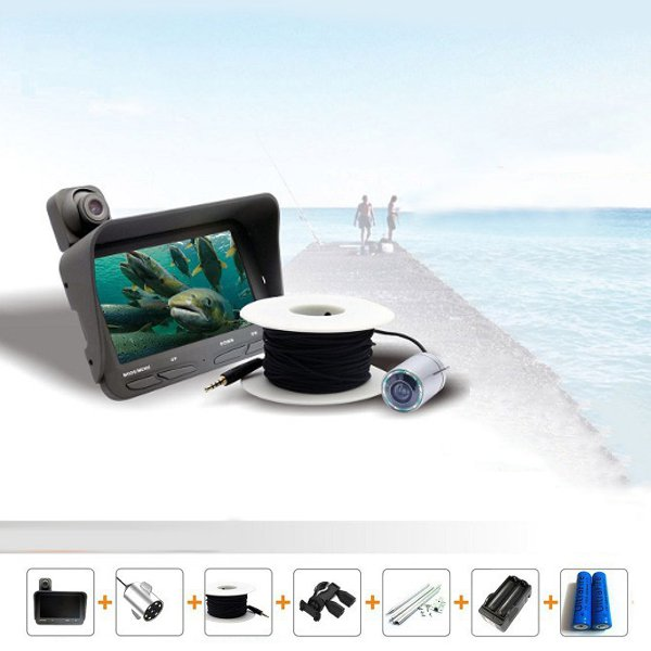 LCD Monitor Night Vision Fish Finder DVR Video Under Water Fishing Camera