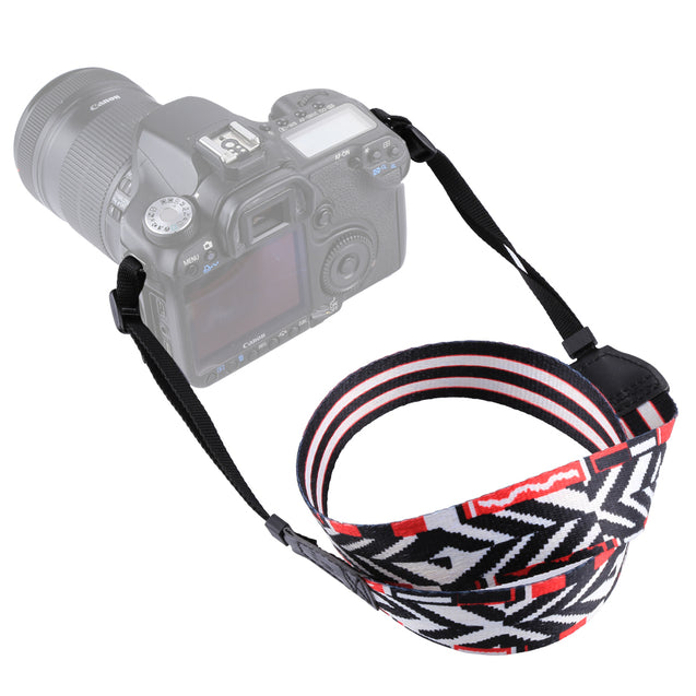PULUZ PU6009B Retro Ethnic Style Multi-color Series Shoulder Neck Strap for SLR DSLR Camera