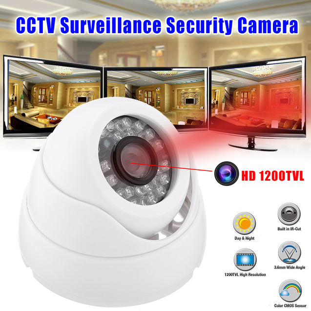 HD 1200TVL CCTV Surveillance Security Camera Outdoor IR Night Vision