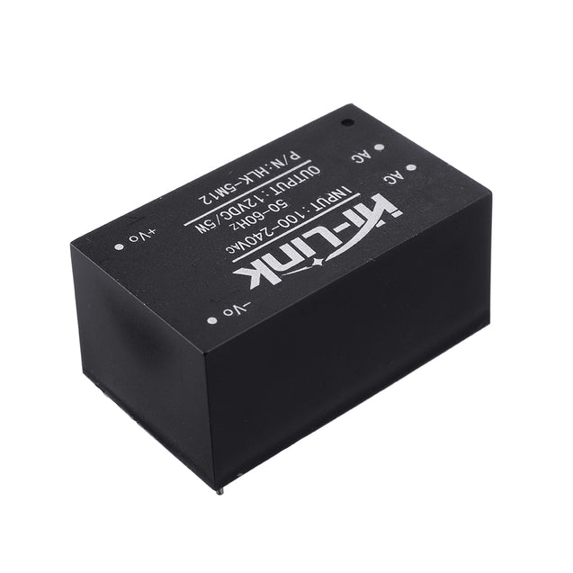 HLK-5M12 AC 100-240V to DC 12V 5W AC-DC Low Ripple Switching Power Supply Module Power Step Down Buck Regulator
