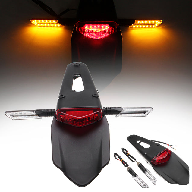 12V Motorcycle LED Brake Rear-Fender Tail Light Stop Turn Signal Lamp Universal