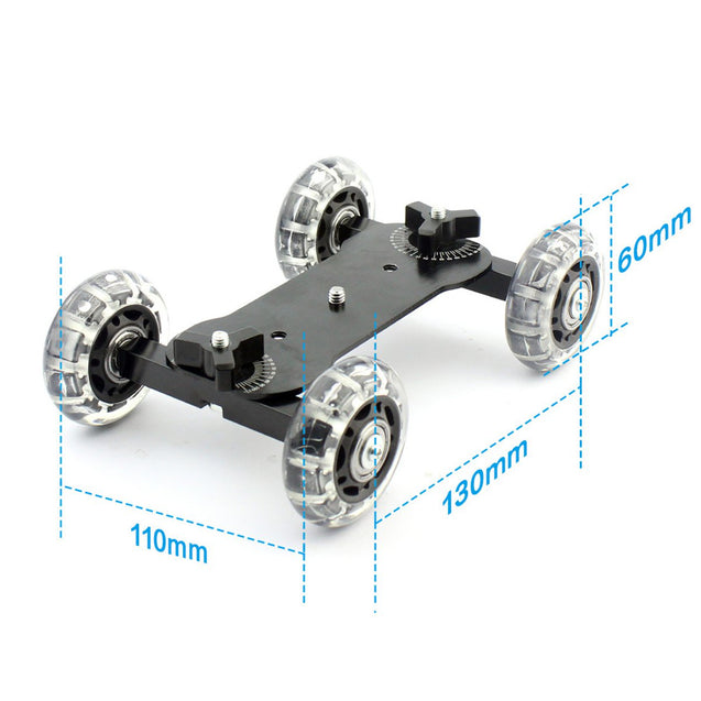 Rail Rolling Track Slider Skater Dolly Car For DSLR Camera Camcorder with Selfie Stick Magic Arm