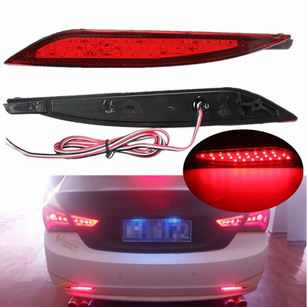 2pcs 25LEDs Red Rear Tail Lamp LED Bumper Brake Stop Running Light For Hyundai Sonata 8th 11-14