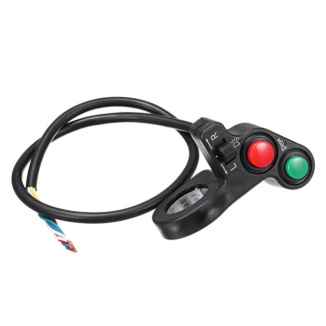 22mm Handlebar Light Horn On/Off Signal Indicator Switch For Motorcycle E-bike