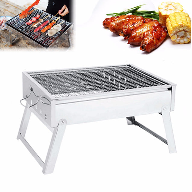 IPRee Portable Folding Charcoal Stove Barbecue Oven Cooking Picnic Camping BBQ Grill