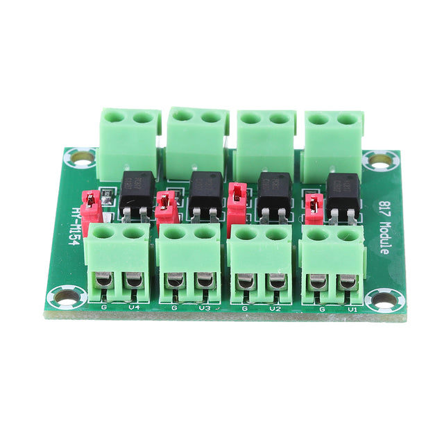 3pcs PC817 4 Channel Optocoupler Isolation Board Voltage Converter Adapter Module 3.6-30V Driver Photoelectric Isolated Module PC 817