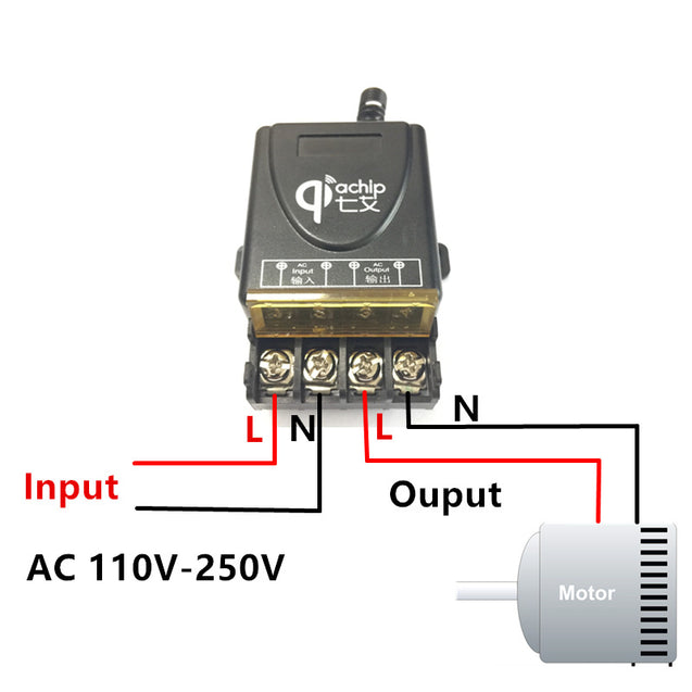 433Mhz Universal Wireless RF Remote Control Switch AC 220V 1CH 30A Relay Receiver for Electric Gate Garage Door