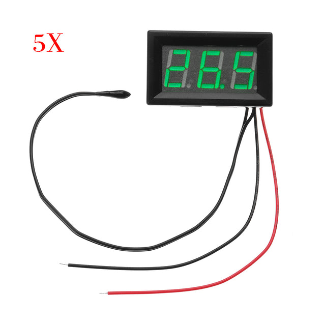5pcs Green DC 5V To 12V -50C To -110C Digital Thermometer Monitor Multipurpose Thermometer