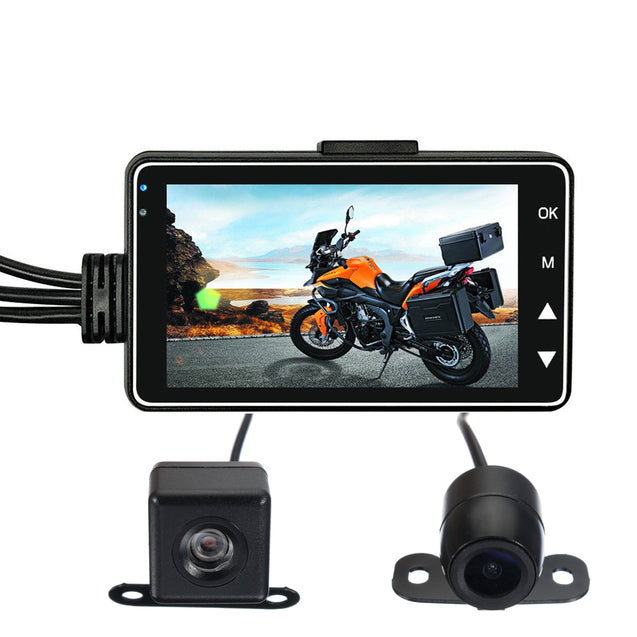 3inch LCD 720P+480P Dual Action Camera Video Recorder Waterproof For Motorcycle Bike