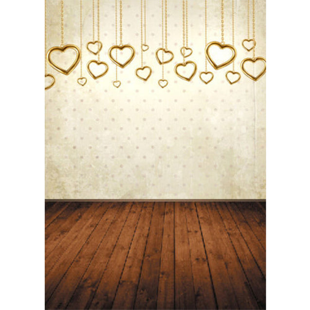 7x5ft Vinyl Valentine's Day Heart Floor Photography Background Studio Backdrop Photo Prop