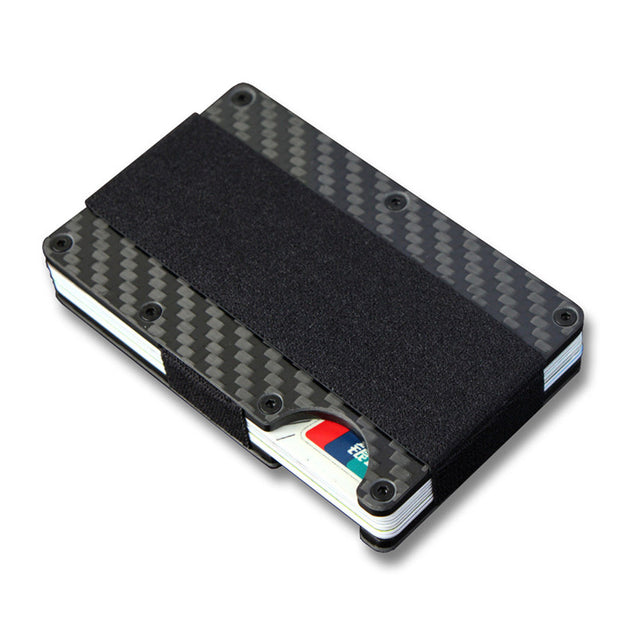 Slim Carbon Fiber Credit Card Portable ID Passport Card Holder Money Clip Case Wallet