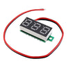 20pcs 0.28 Inch Two-wire 2.5-30V Digital Green Display DC Voltmeter Adjustable Voltage Meter