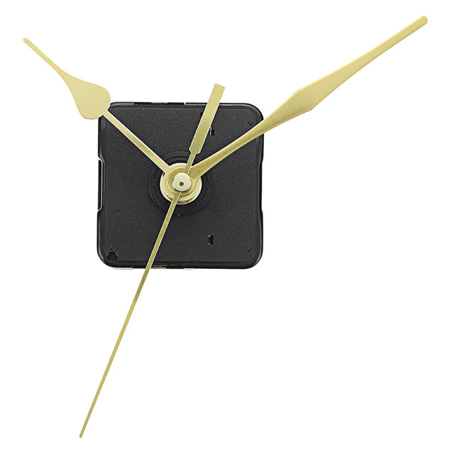 3pcs 20mm Shaft Length Gold Hands Quartz Wall Clock Silent Movement Mechanism Repair Parts