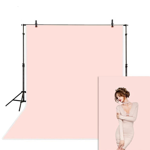 Solid Pastel Pink Studio Photography Background Backdrop