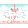 Unicorn Birthday Rainbow Stars Clouds Photography background Backdrop
