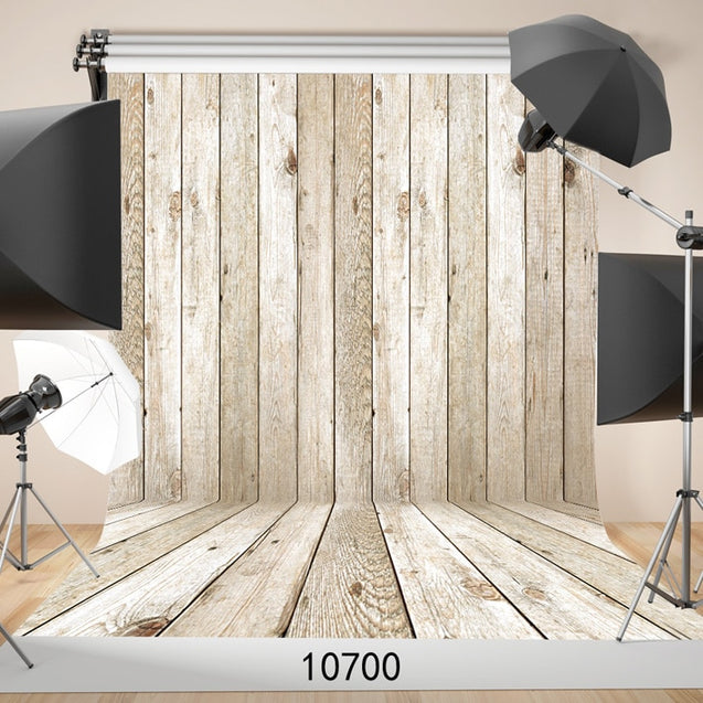 Wooden Wall Floor Photographic Backgrounds Backdrop  Vinyl Cloth