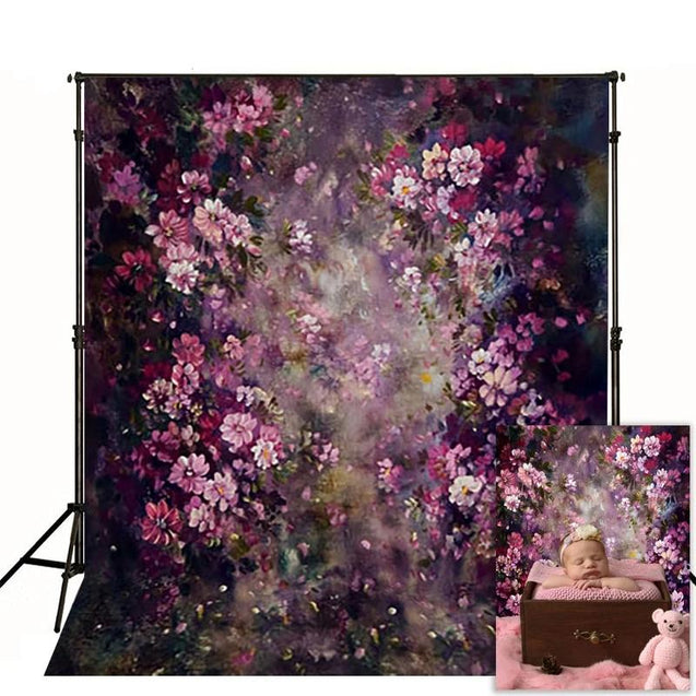 Flower Photography Backdrop Spring Wedding Painting Background