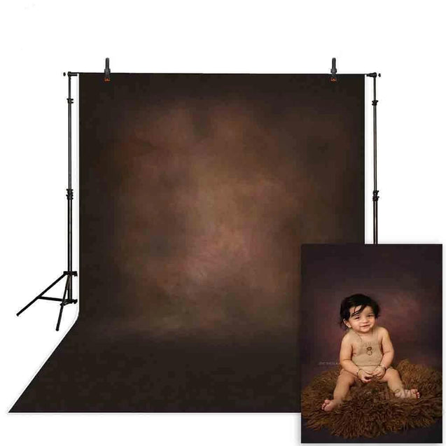 Vinyl Old Master Dark Brown Photographic Background Backdrop