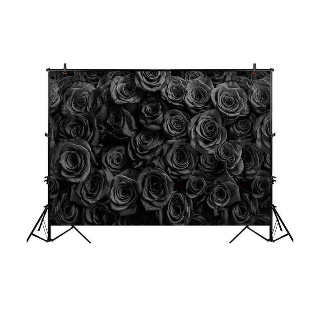 Studio Black Rose Flower Love Photography Backdrop Background