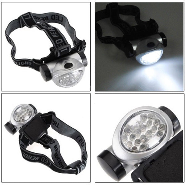 18 LED Headlamp Head Light Torch Lamp Hiking Flashlight