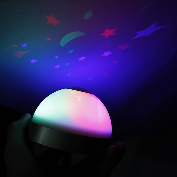 LED Laser Projector 3 color Night Light Alarm Clock