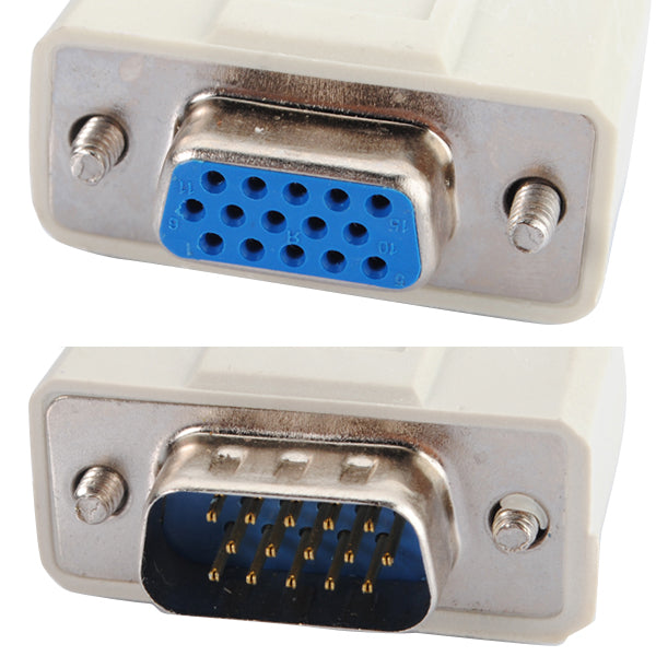 1 PC TO 2 VGA SVGA MONITOR Y SPLITTER CABLE LEAD 15 PIN Video