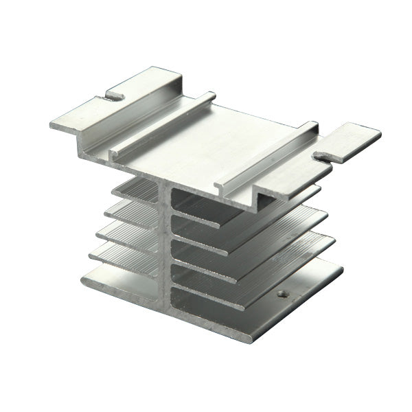 Aluminum Alloy Heat Sink For Solid State Relay SSR Heat Dissipation