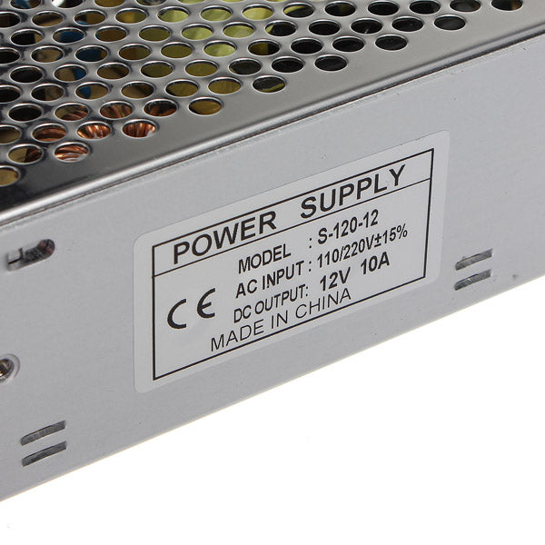 12V 10A 120W Switching Power Supply For LED Strip Hot AC 110-220V