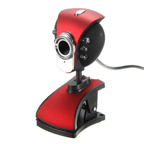 USB 50M 6 LED Night Vision Webcam Camera Webcams With Mic PC Laptop