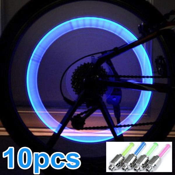 10x Bike Bicycle LED Wheel Lights Valve Lamp Valve Core Light