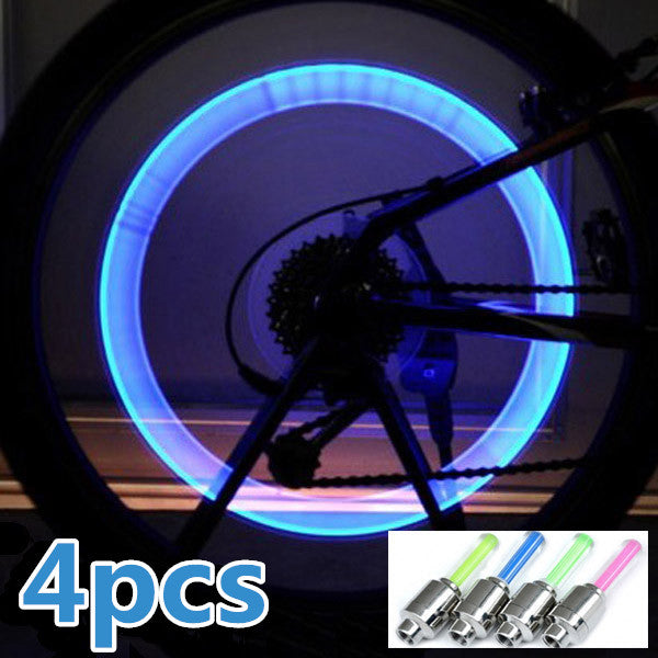 4pcs Bike Bicycle LED Wheel Lights Valve Lamp Valve Core Light