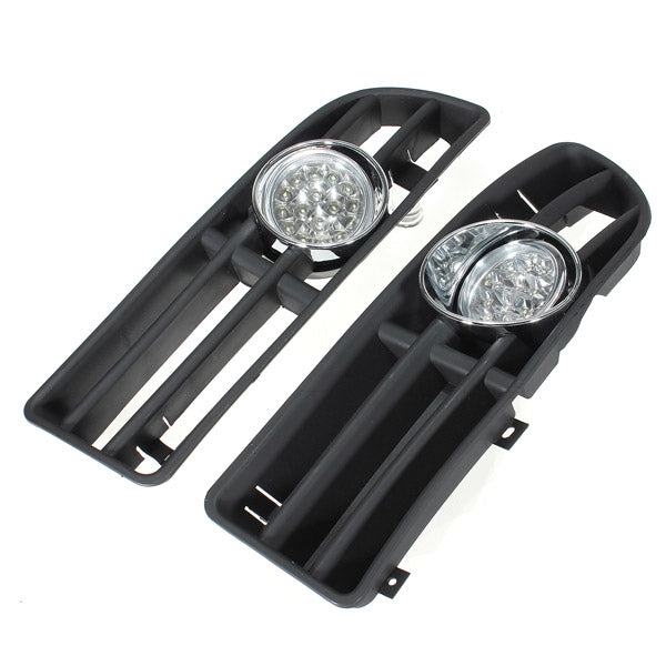 Car LED Fog Lamp Grille Bumper with Harness for 99-04 VW JETTA BORA MK4