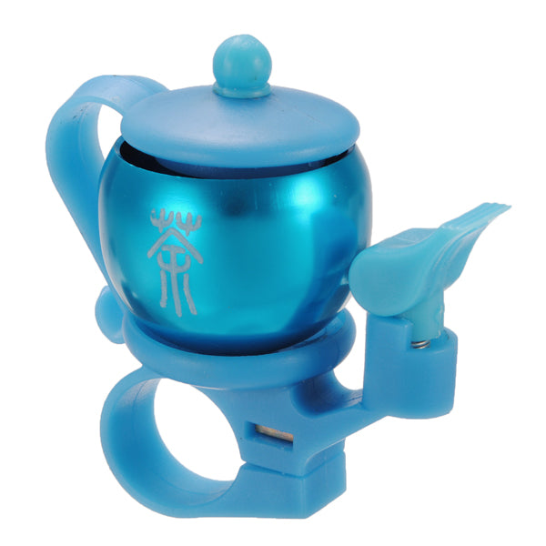 Durable Aluminum Alloy Multi-color Teapot Shaped Bicycle Bell