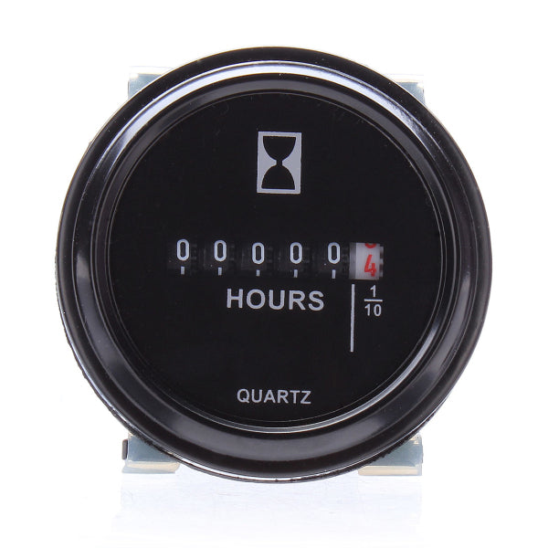 Round Hour Meter For Cart Boat Tractor Generator Engine Mower 10-80V