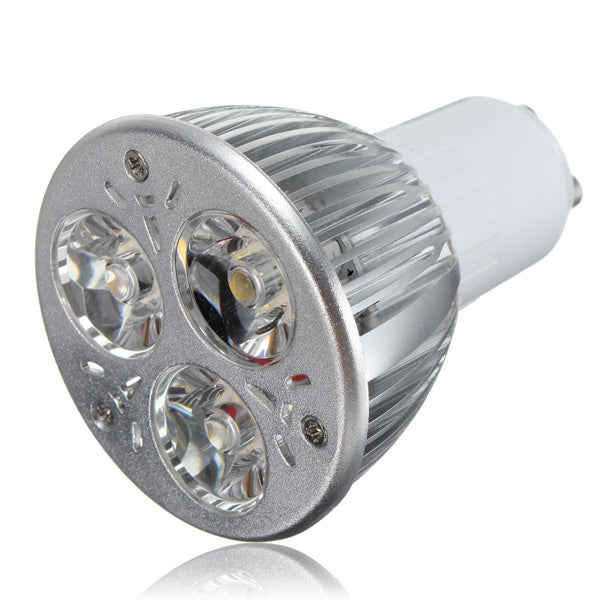 10X GU10 9W Warm White 3LED Spot Lightt Bulbs AC85-265V