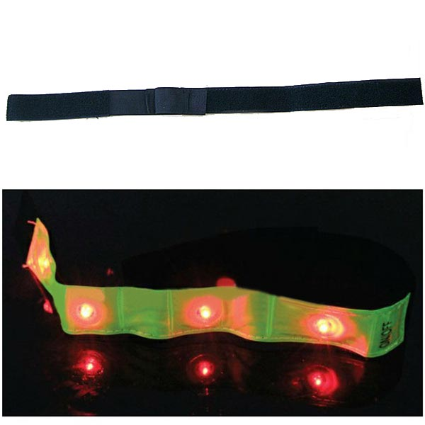 One Pair LED Saftey Visible Flashing Jogging Armband Reflective Band