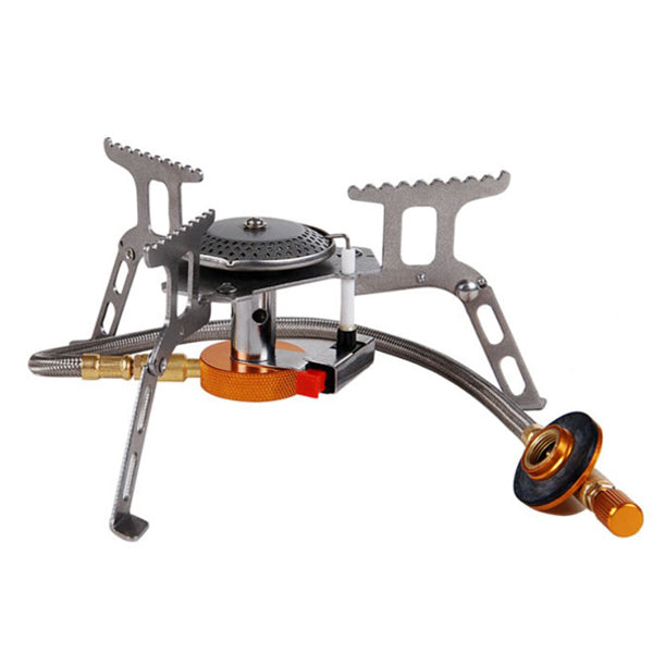 Foldable Outdoor Mini Camping Stainless Steel Gas Cooking Stove