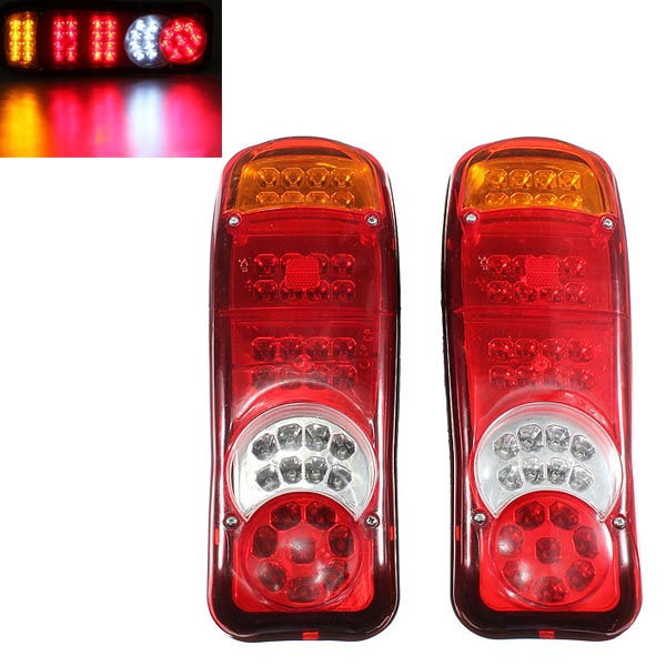 2x 40LED Trailer Truck Van Caravan Stop Rear Tail Indicator Light 12V