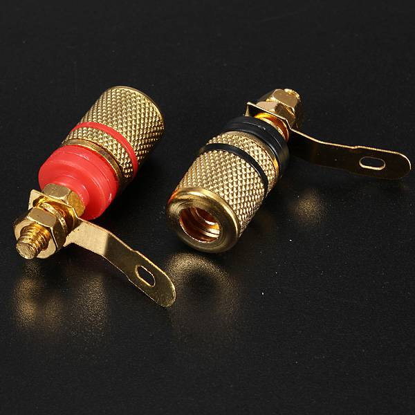 2Pcs Speaker Terminal Binding Post Banana Plug Socket Connector