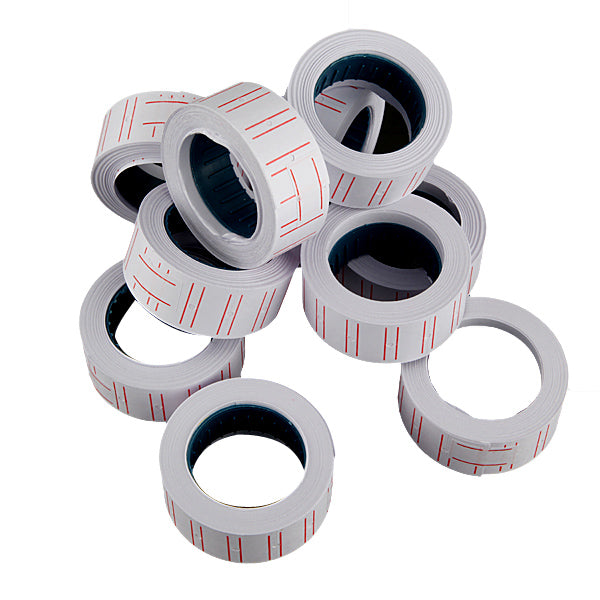 New 10 Rolls Label Paper For MX 5500 Price Gun Labeller Paste Adhesive Supermarket
