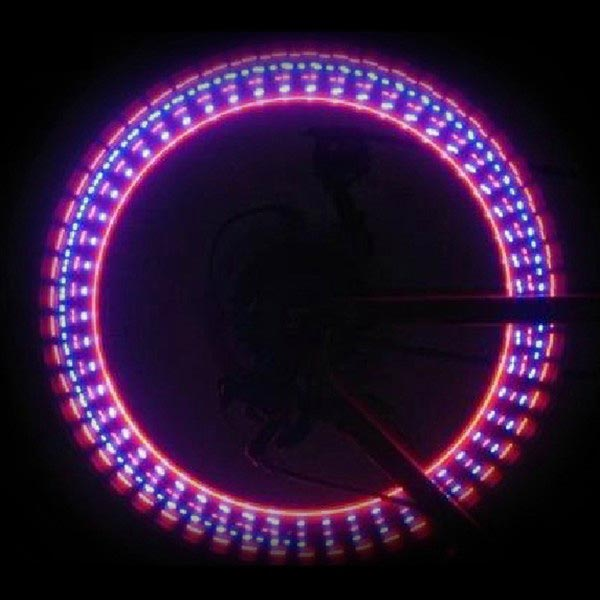 32 Pattern Bicycle Double Light Valve LED Wheels Shaped Lamp