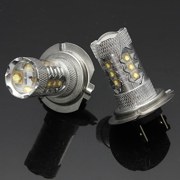 2 x 80W Stage3 H7 LED Fog Light Bulb for Chevrolet Dodge