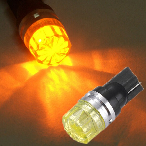 1.5W Car Wedge Amber Yellow LED T10 Side Tail Turn Light COB Bulb Lamp