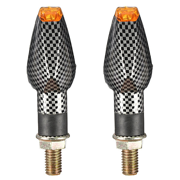 Carbon Motorcycle Turn Signal 14 LED Indicator Lights For Honda