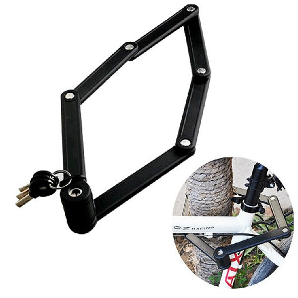 High Strength Bicycle Lock Anti Theft 6 Joints Foldable Bike Lock
