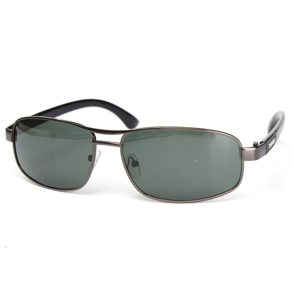 Outdoor Sunglasses Dark Green Metal Frame Polarized Sunglasses
