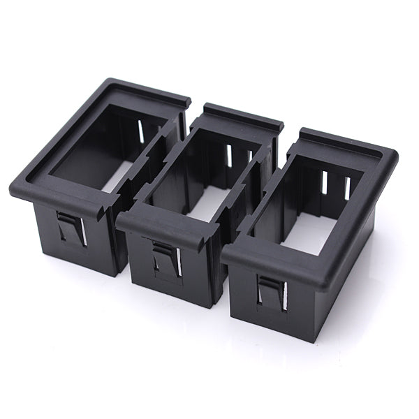 3 Rocker Switches Housing ARB Clip Panel Holder Plastic Carling Type